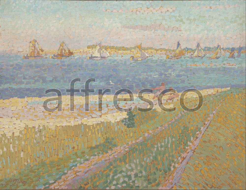 Каталог Аффреско, Импрессионисты и постимпрессионистыЯн Тороп, The Schelde near Veere | арт. Jan Toorop, The Schelde near Veere