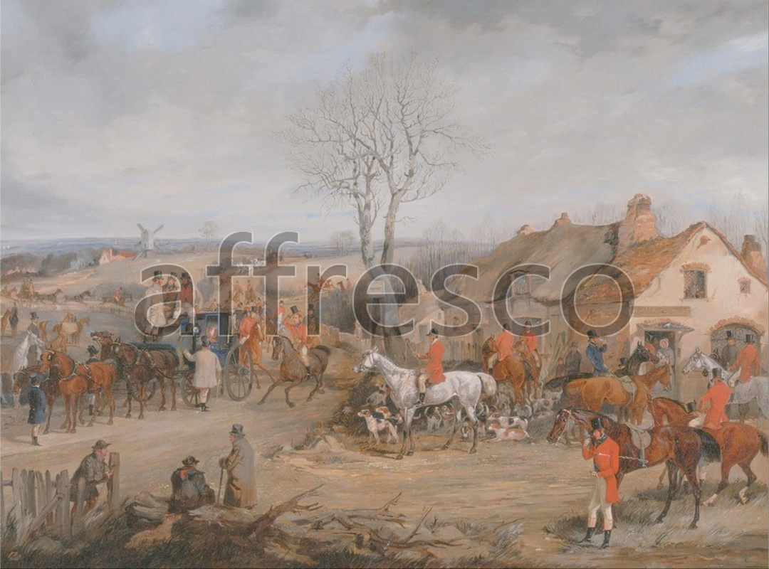 Каталог Аффреско, Сцены охотыHenry Thomas Alken, Hunting Scene The Meet | арт. Henry Thomas Alken, Hunting Scene The Meet